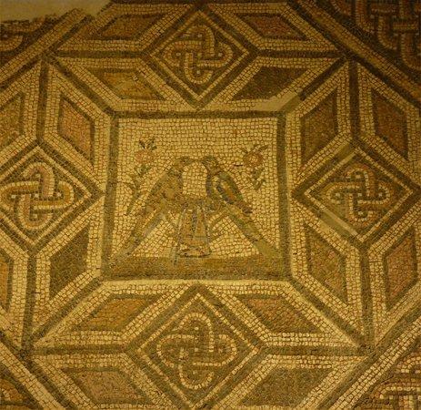 Antiquarium de Sevilla: Mosaic: lovebirds
