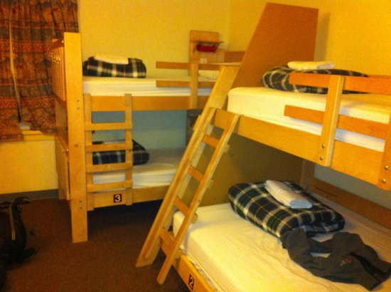 HI-Banff Alpine Centre: 4bed dorm with my double bed!