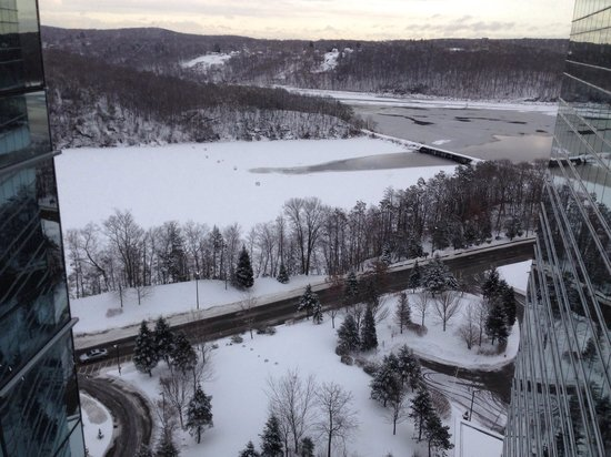 Mohegan Sun : Winter view from the 24th floor