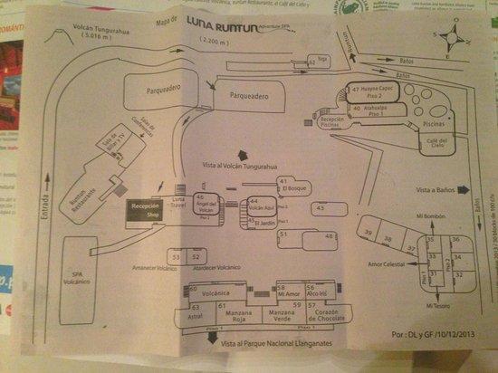 Luna Runtun, Adventure SPA: Hotel Map