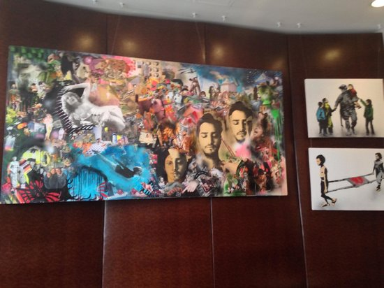 NU Hotel: Local Artist Paintings in the Lobby