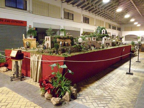 Christmas crib at the Mercado Municipal de Abastos