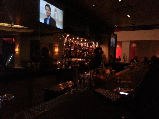 "W Atlanta Midtown: ""Living Room"" bar by night"