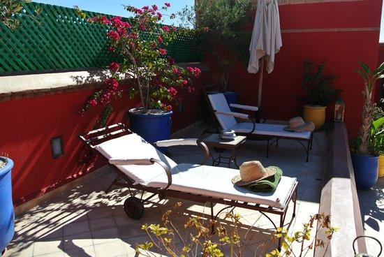 Dar Vedra: Terrasse