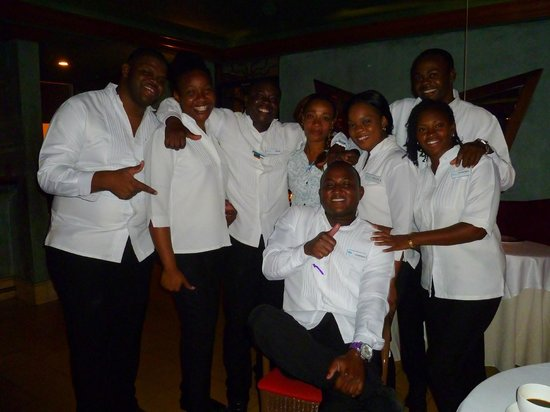 Couples Negril : Dining room staff from the Otaheite