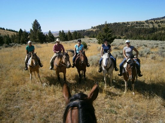 Martinsdale, MT: Riding out on the range