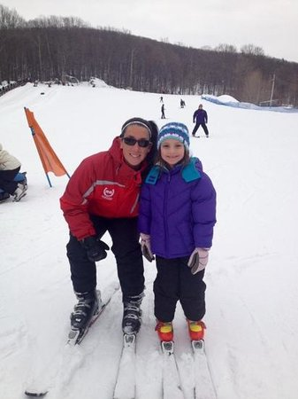 "Rocking Horse Ranch Resort: Cara and Frankie after their first run together down the ""Big Hill""!"