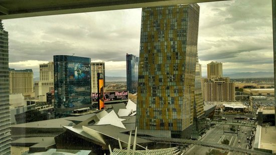 ARIA Resort & Casino: view from the room on the 21st floor