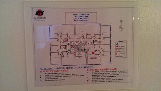 Century Plaza Hotel & Spa: Floor map