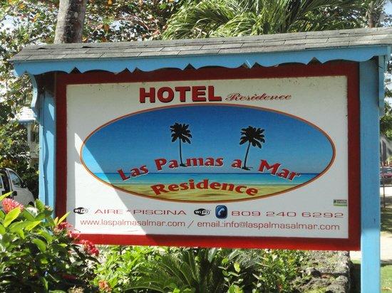Hotel Villas Las Palmas al Mar : panneau entrée résidence