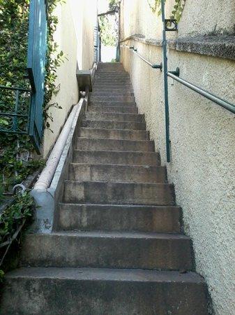Rio Hostel & Suites Santa Teresa: Escadaria acima...