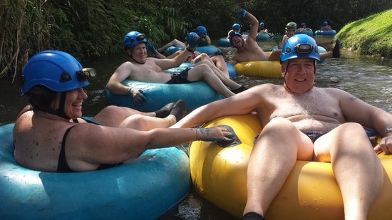 Kauai Backcountry Adventures: Tubing down the lazy part of the canal