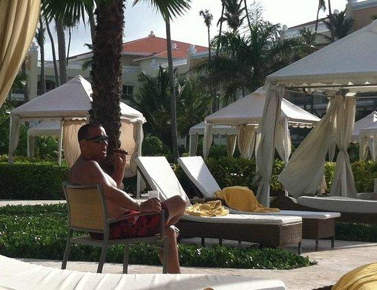 Iberostar Grand Hotel Bavaro : Enjoying a freshly rolled Dominican
