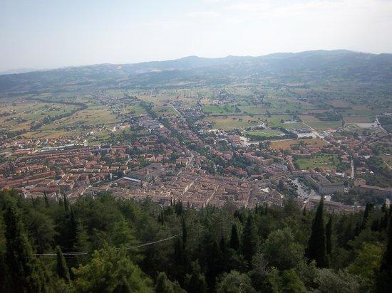 Funivia Colle Eletto: Gubbio dal Monte Ingino