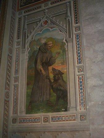 Cathyedral (Duomo di Gubbio): immagine di San Francesco nel Duomo