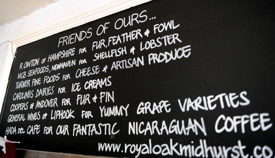 The Royal Oak Country Pub & Restaurant: Local Suppliers