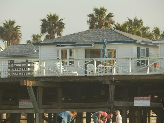 Crystal Pier Hotel & Cottages: View of cabin 14 from below pier