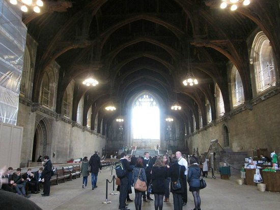 Houses of Parliament/Westminster-Palast: This is the only part og the inside you can take photos, and this is the Great Hall