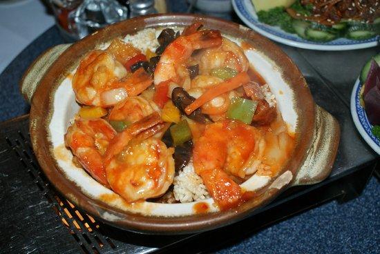 Dun-Huang: Les crevettes au riz fumé