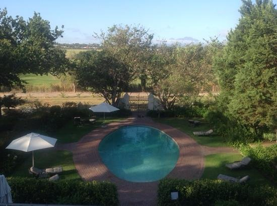 View of the pool at Vredenburg Manor House