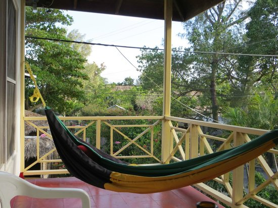 Catcha Falling Star Gardens: Hammock on our wraparound porch