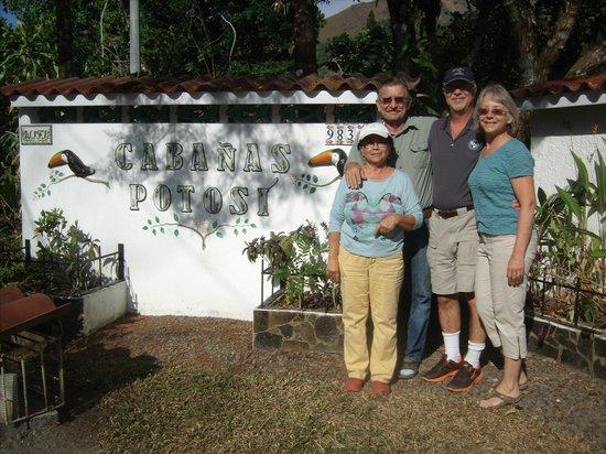 Cabanas Potosi: with Dennis and Mireya