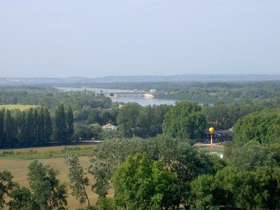 Ile de la Barthelasse : Barthelasse vue du Rocher des Doms