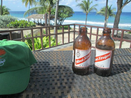 Renaissance St. Croix Carambola Beach Resort & Spa: Cold ones by the beach
