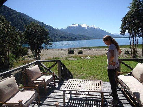 Yelcho en la Patagonia: Vista desde el quincho del Hotel