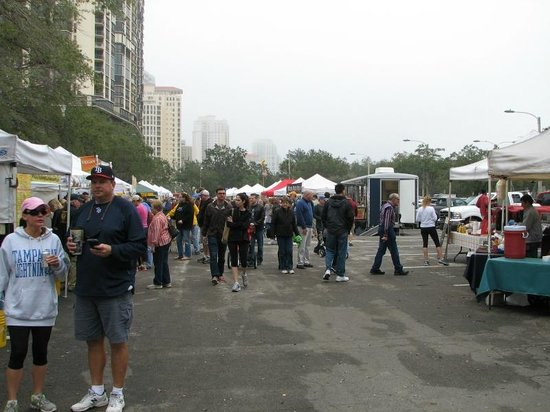 Saturday Morning Market: Lots of people from downtown St Pete shop here