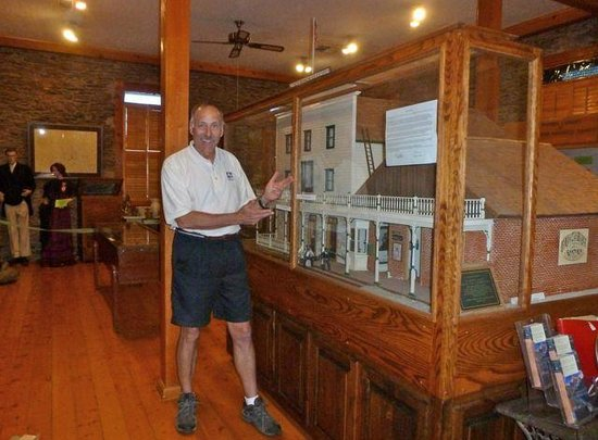 Northern Mariposa County History Center: Mr. Halfdome checks out historic display.