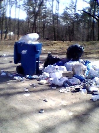 Etowah River Campground: garbage