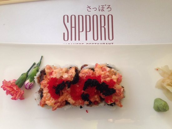 Sapporo Japanese Restaurant: Everything presented beautifully