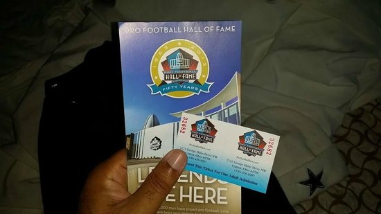 Pro Football Hall of Fame : My tickets to the Museum