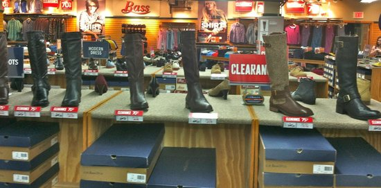 Brattleboro Outlet Center: G.H. Bass Shoe & Co.  Shoes, slippers and boots for men and women.  Also carry luggage styles.