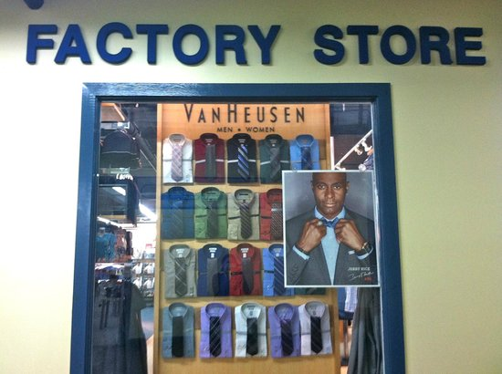 Brattleboro Outlet Center: Van Heusen for men and women.  Shirts, suits, sweaters, ties and accessories.