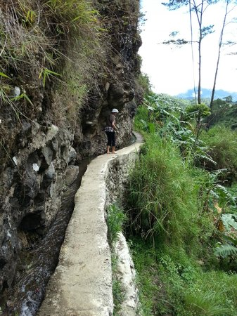 Pongas Falls : the narrow cemented foot path near the falls