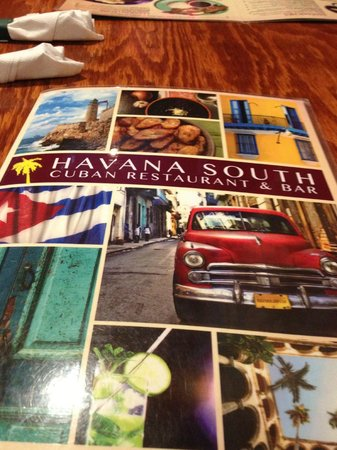 Havana South Cuban Restaurant & Bar: Menu