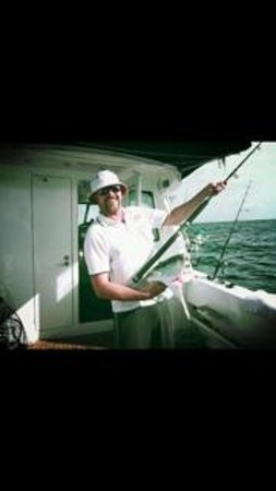 Get Reel Charters: A big Kingfish that was taken by a shark