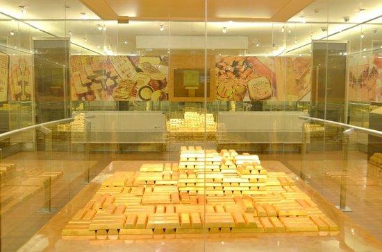 Museum Bank Indonesia Gold Bar Samples