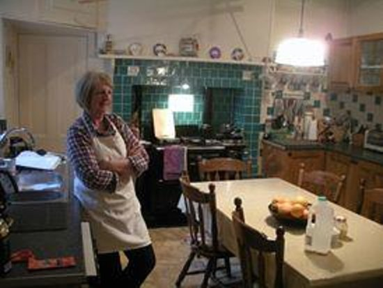Highfield House : Margaret and her lovely kitchen