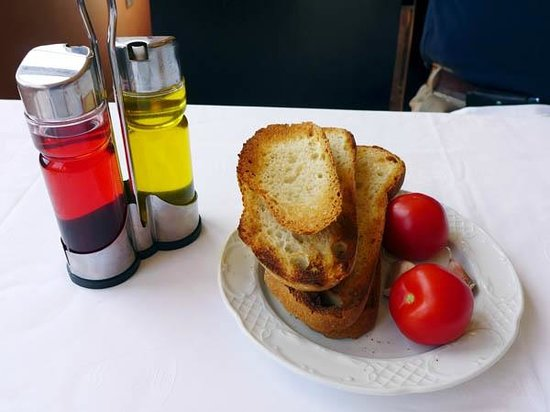 Cafeteria Food Pans ~ Pan con tomate picture of cafeteria montserrat