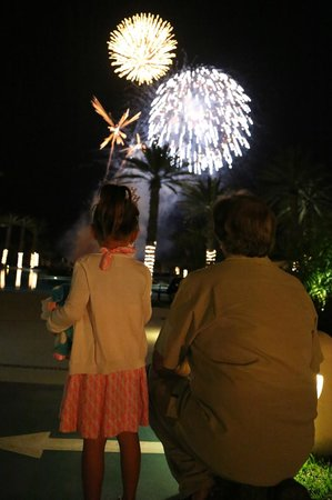 Hyatt Ziva Los Cabos: Hyatt's New Year fireworks celebration.