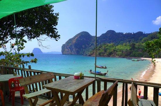 Ko Yao Seafood : Great view of Had Farang beach and beyond