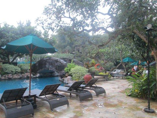 Hyatt Regency Yogyakarta : Only one side of their pool