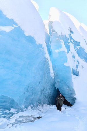 Alaska Backcountry Access LLC: Blue ice! Gorgeous!