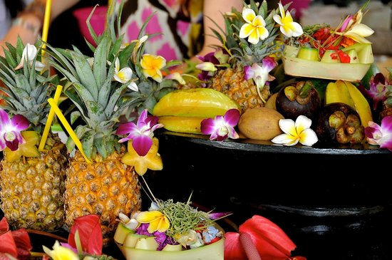 The Zala Villa Bali: Fruit in the villa