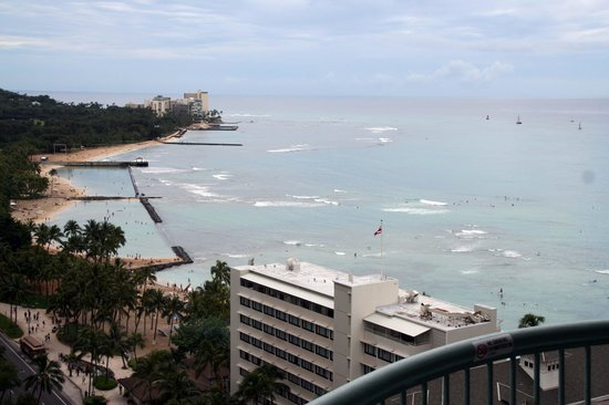 Sheraton Princess Kaiulani: view from 10th floor ocean view room