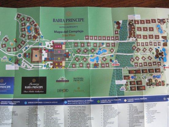 Luxury Bahia Principe Ambar Blue Don Pablo Collection: Map of Bahia Pricipe Resorts
