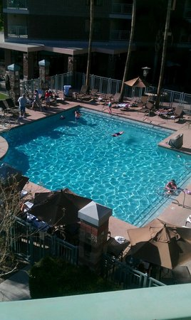 Embassy Suites by Hilton Phoenix-Scottsdale: View of the pool from our room